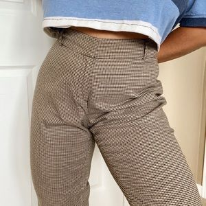 Vintage High Waisted Tweed Trousers